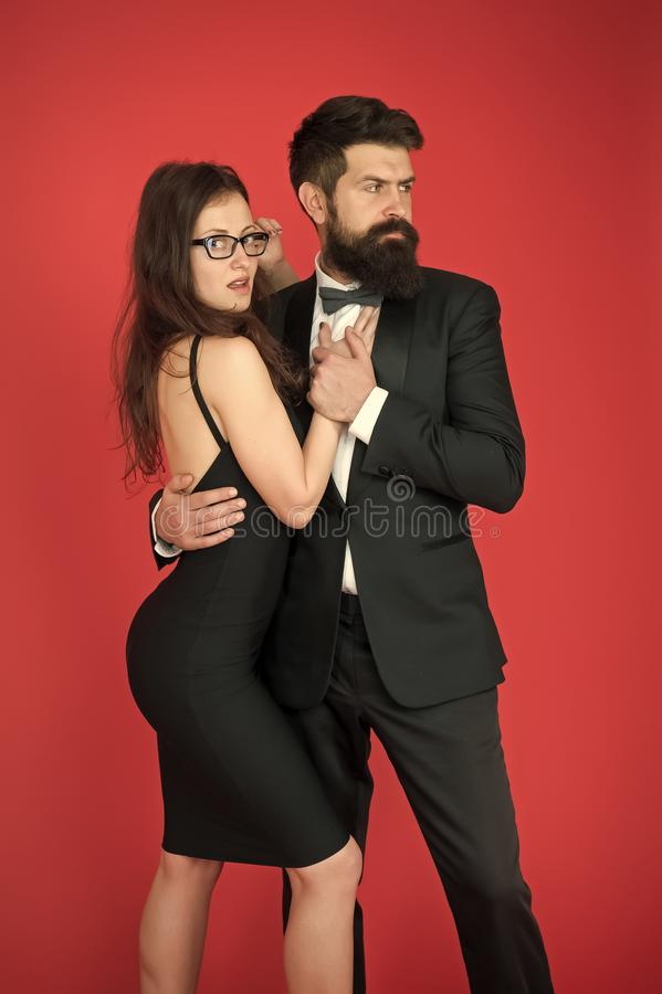 Esthete. Romantic relationship. art experts of bearded man and woman. Formal couple date. Couple in love. Formal party. Esthete. Romantic relationship. art stock photos