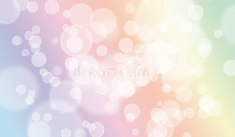 Esthetisch van Pastelkleurbokeh Ontwerp Als achtergrond vector illustratie