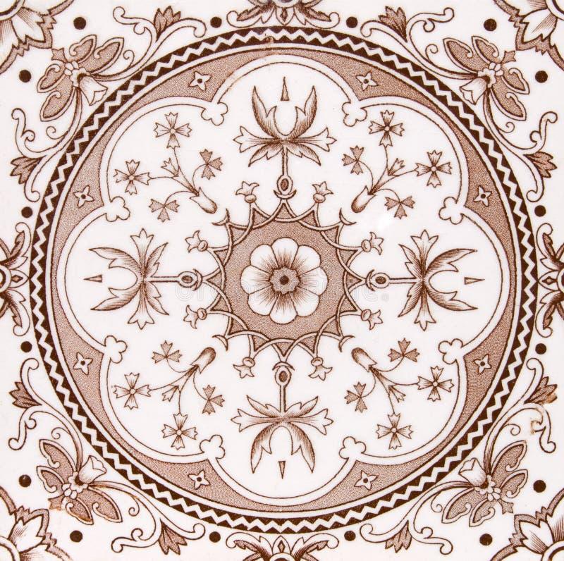 Esthetische antieke tegel stock afbeeldingen