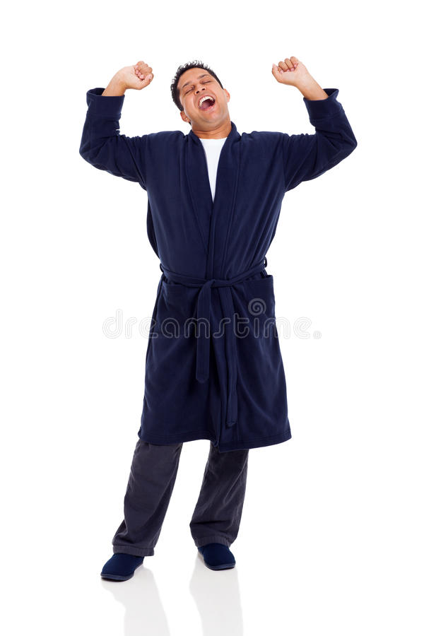 Esticão de bocejo do homem imagem de stock