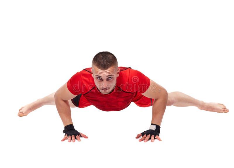 Esticão do lutador de Kickbox foto de stock