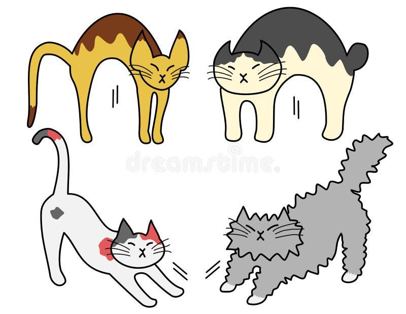 Esticando gatos ilustração stock