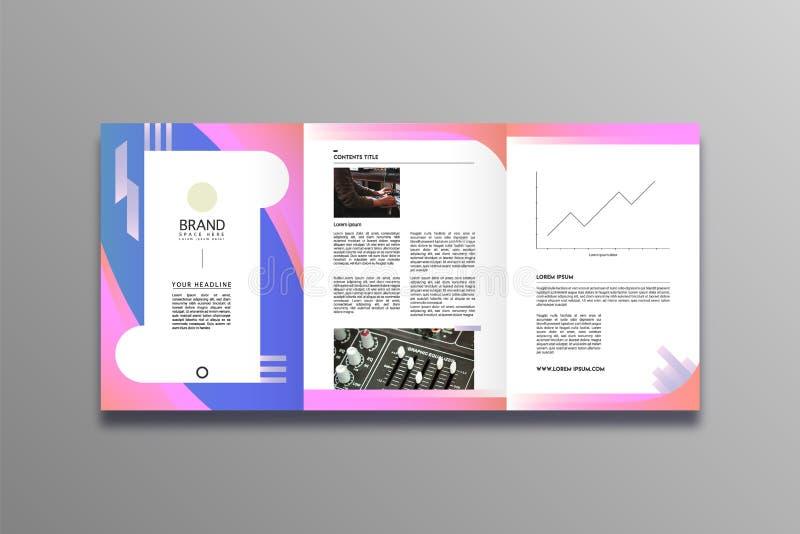 Estilo à moda e moderno do projeto do folheto do negócio ilustração stock