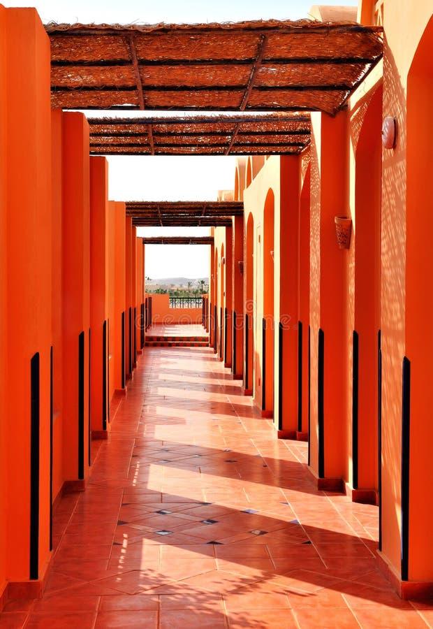 Estilo árabe da arquitetura fotografia de stock