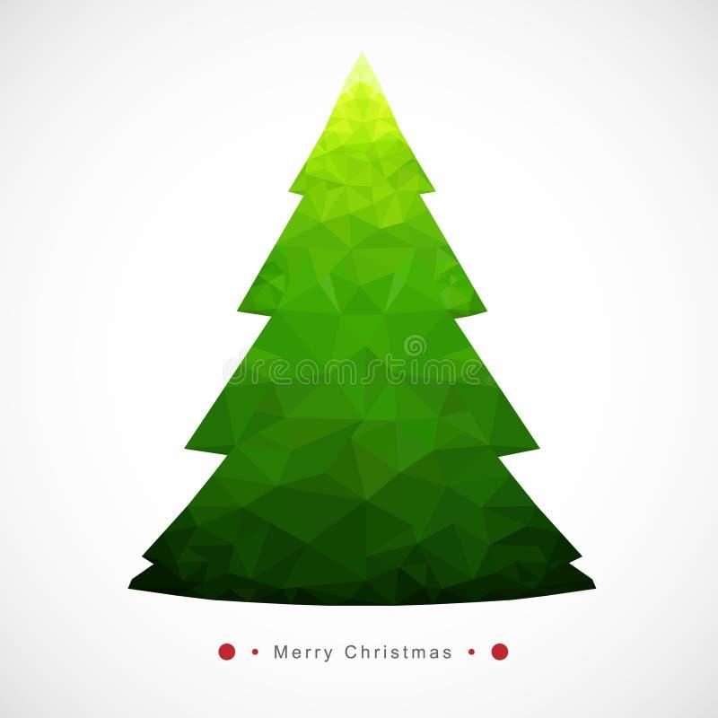 Estilo árvore-geométrico do Natal ilustração stock