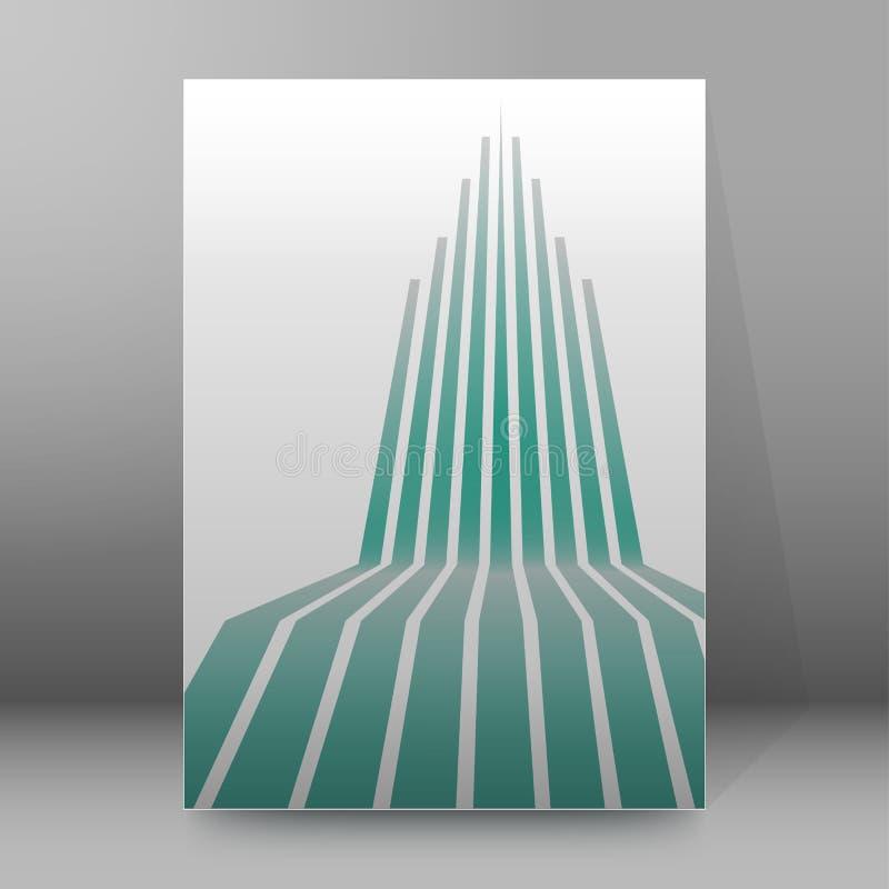 Estilo abstract02 de las páginas de cubierta del folleto del informe A4 stock de ilustración