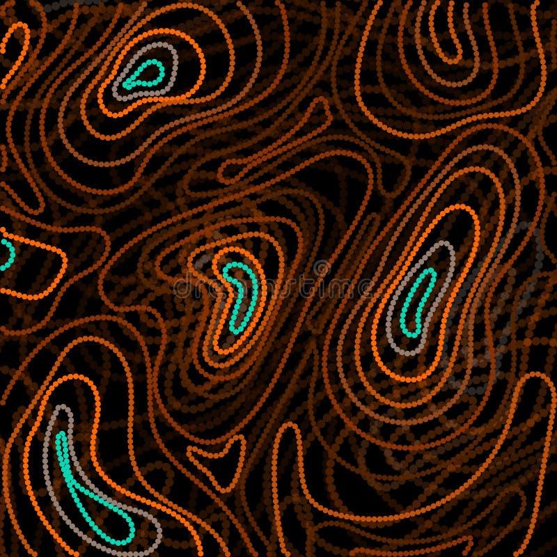 Estilo abstracto basado de arte aborigen australiano stock de ilustración