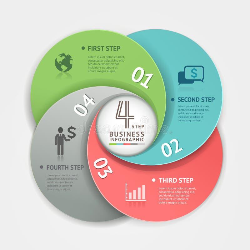 Estilo abstracto de la papiroflexia de Infographics de la esfera económica ilustración del vector