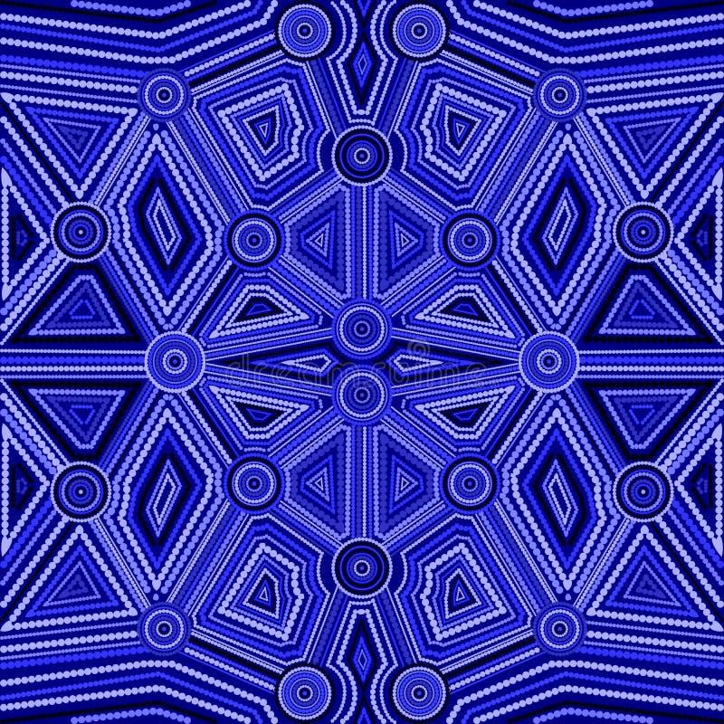 Estilo abstracto del arte aborigen australiano stock de ilustración