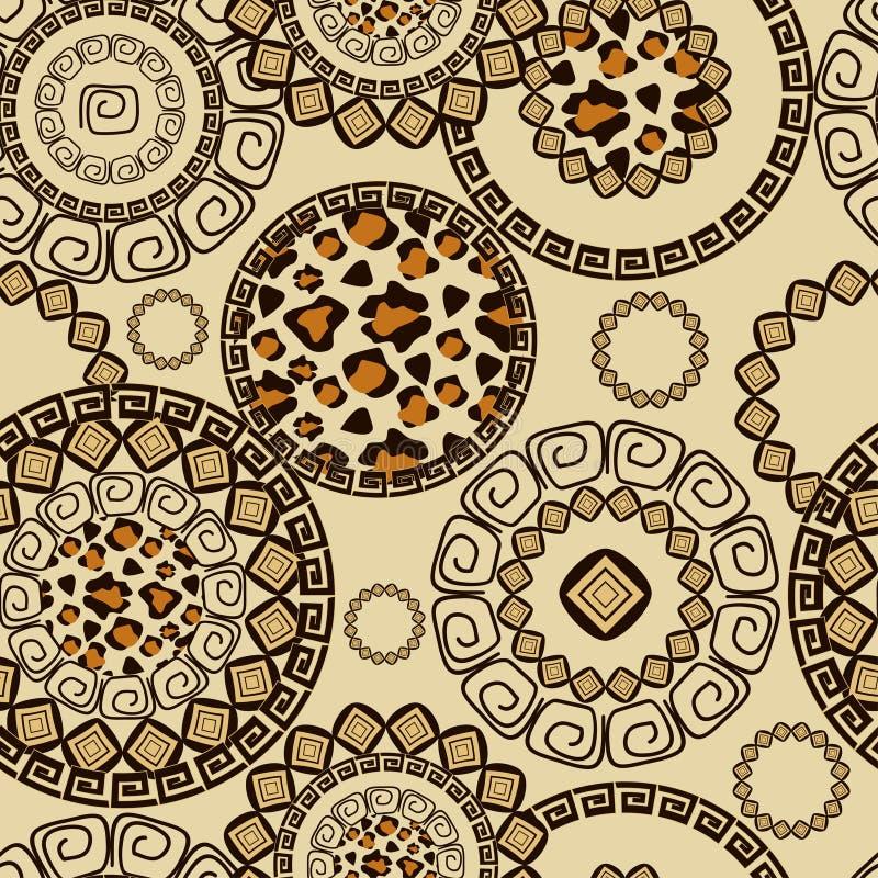 Estilo africano sem emenda com teste padrão da pele da chita ilustração stock