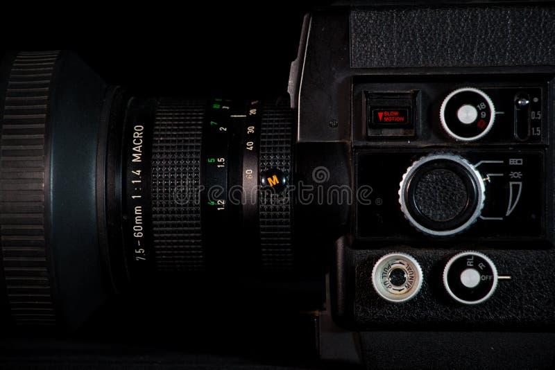 Estilo antigo do sistema da câmera, tecnologia do vintege fotografia de stock royalty free