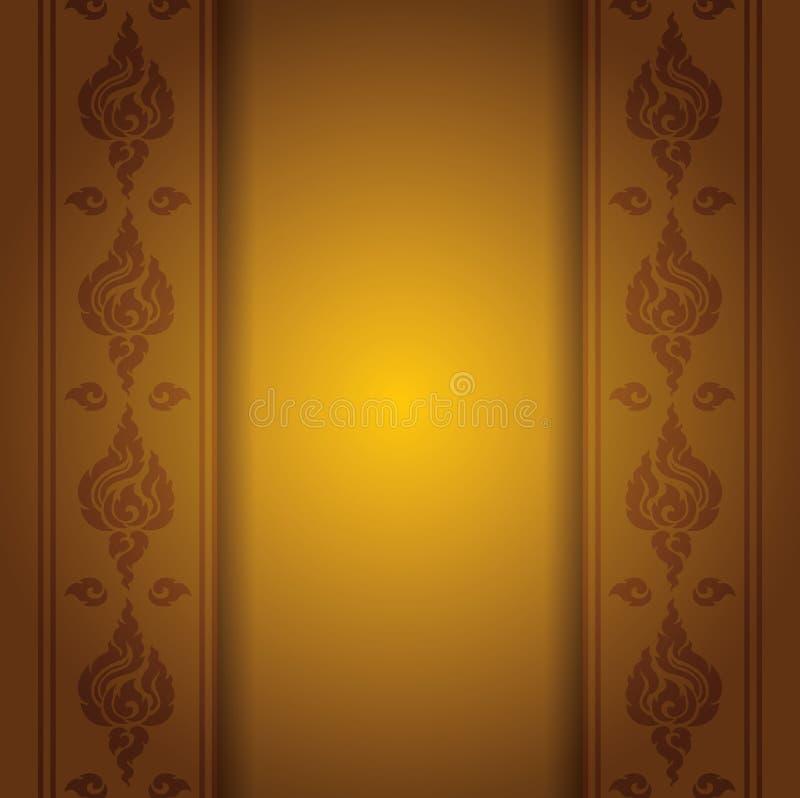 Estilo asiático de la elegancia del arte para el diseño de la cubierta stock de ilustración