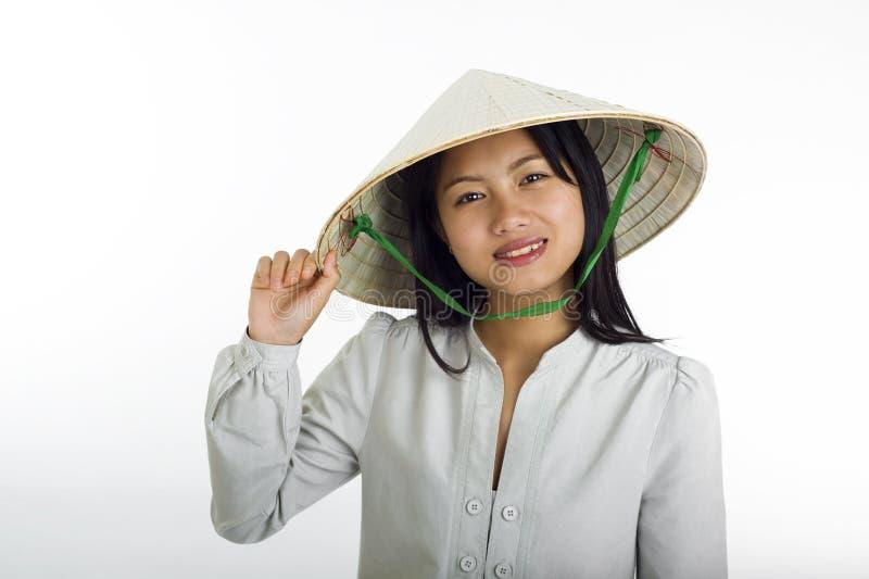 Estilo asiático do vietnamese da menina fotos de stock
