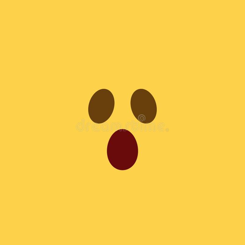 Estilo assustador Emoji da telha foto de stock
