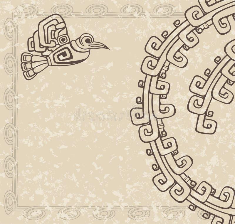 Estilo azteca ilustración del vector