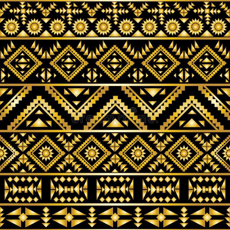 Estilo azteca inconsútil del art déco del modelo stock de ilustración