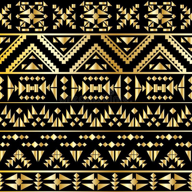 Estilo azteca inconsútil del art déco del modelo, ejemplo del vector libre illustration