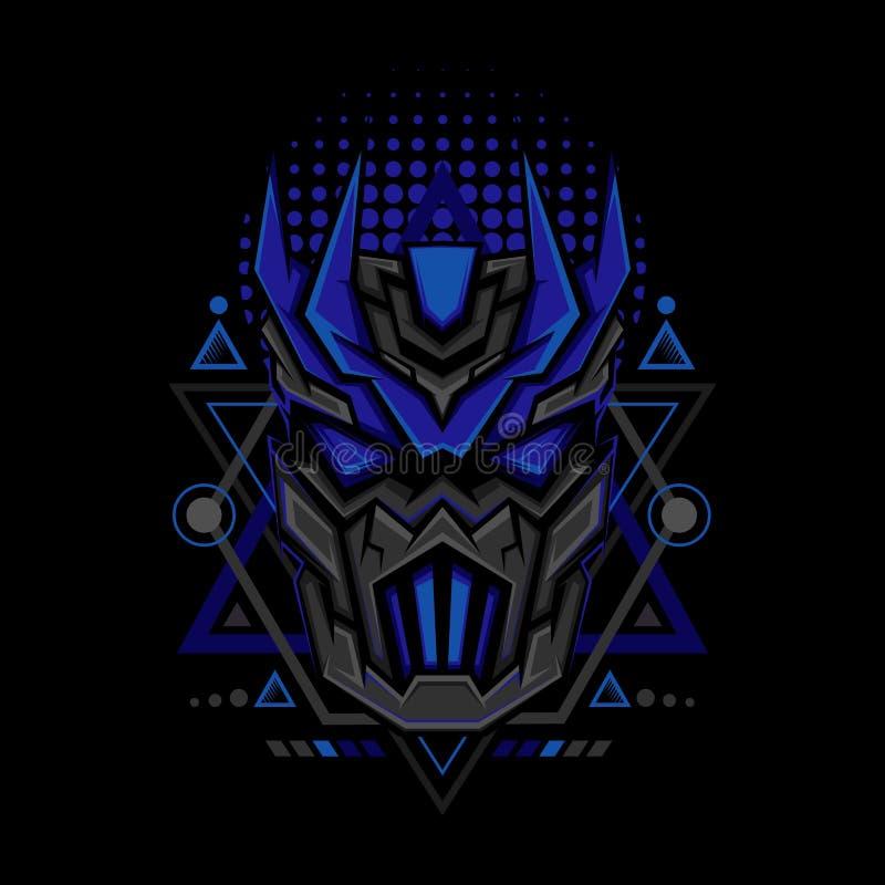 Estilo azul marino de la geometría de Maks stock de ilustración
