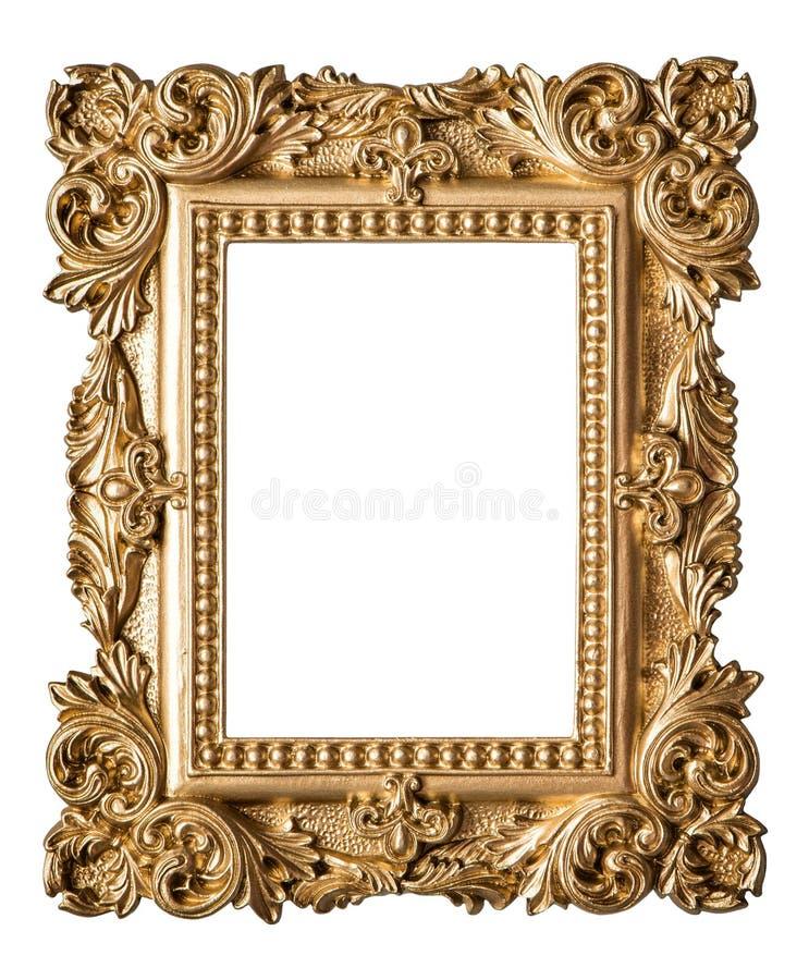 Estilo barroco da moldura para retrato Objeto do ouro da arte do vintage fotos de stock royalty free