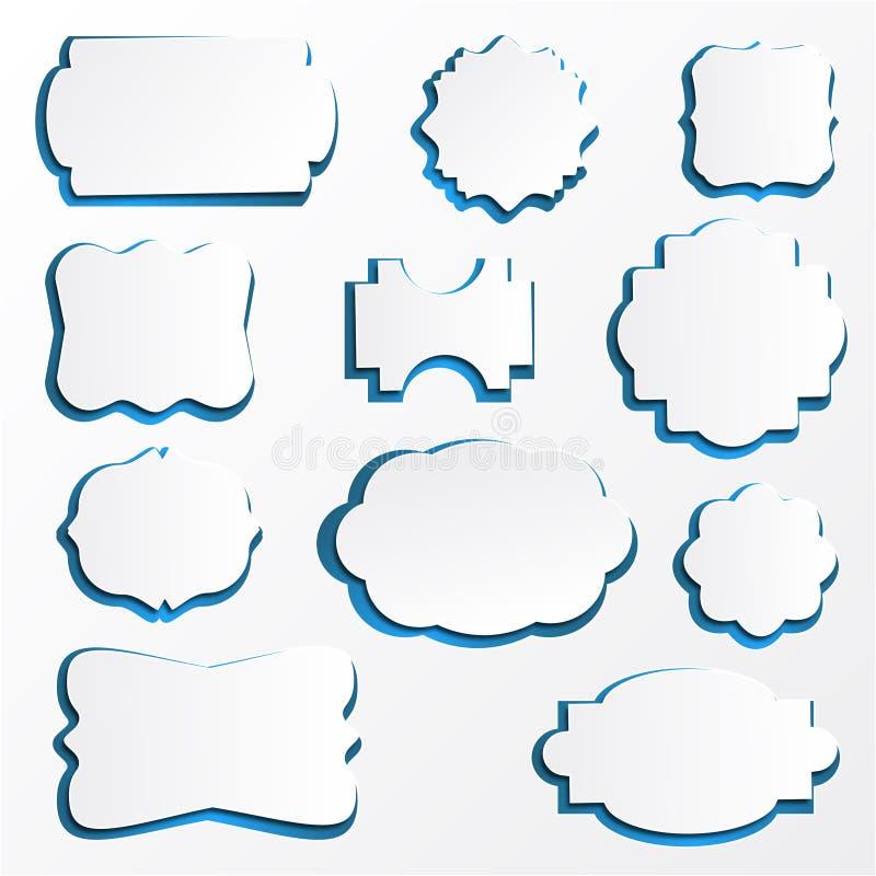 Download Quadros De Papel Ornamentado Ilustração do Vetor - Ilustração de branco, certificado: 29827208