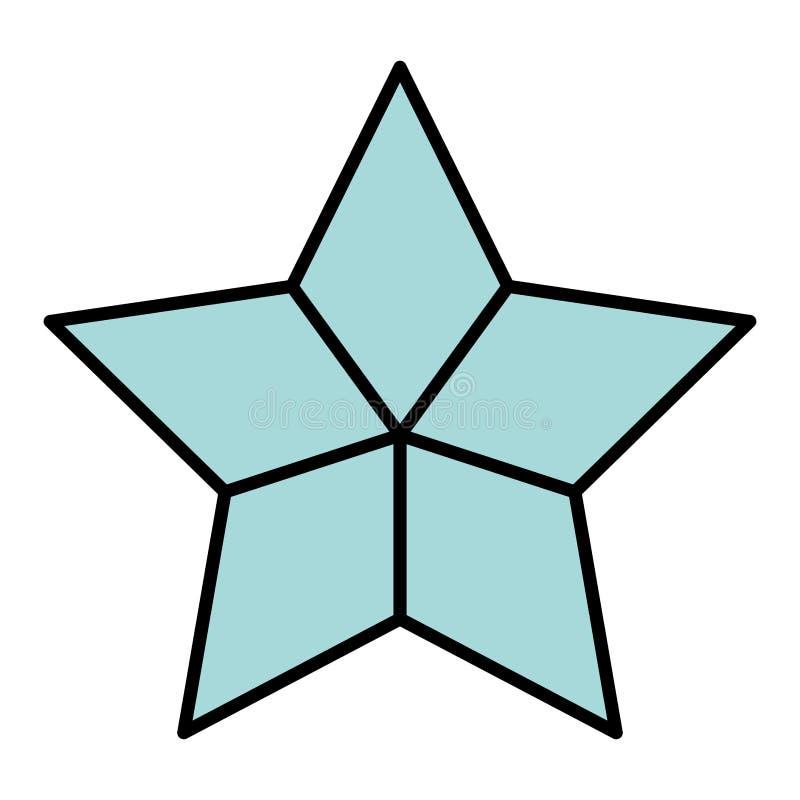 Estilo brilhante do universo da estrela da beleza da cor ilustração do vetor