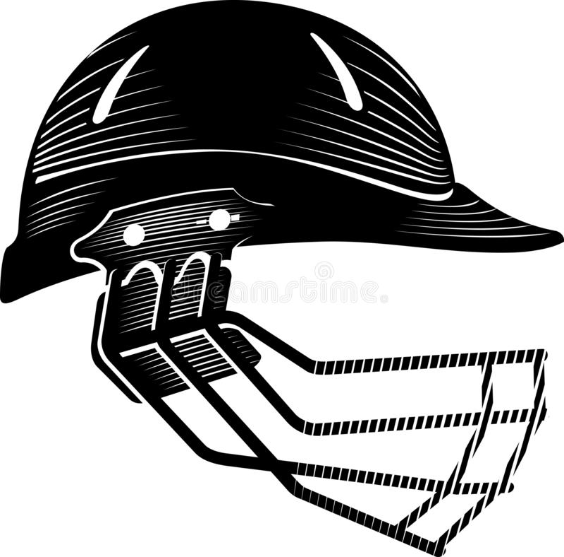 Estilo caligráfico del casco del grillo libre illustration