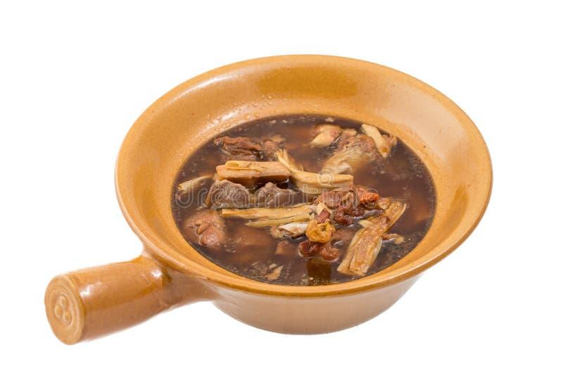 Estilo chinês da sopa da cabra fotos de stock royalty free
