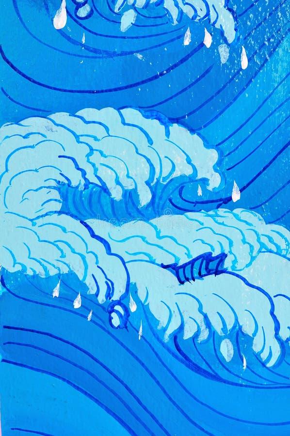 Estilo chinês do mar fotos de stock
