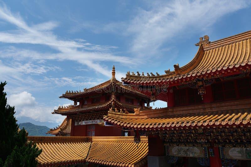 Estilo chinês do telhado foto de stock royalty free