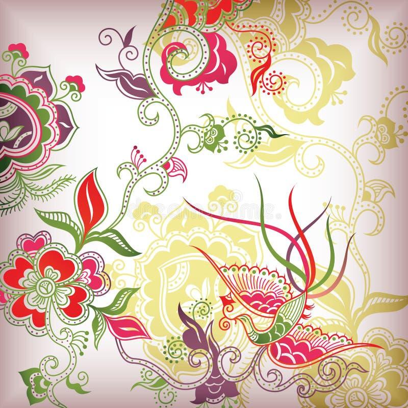 Estilo chino floral ilustración del vector