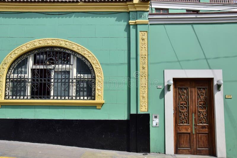 Estilo colonial colorido típico en Lima fotos de archivo libres de regalías