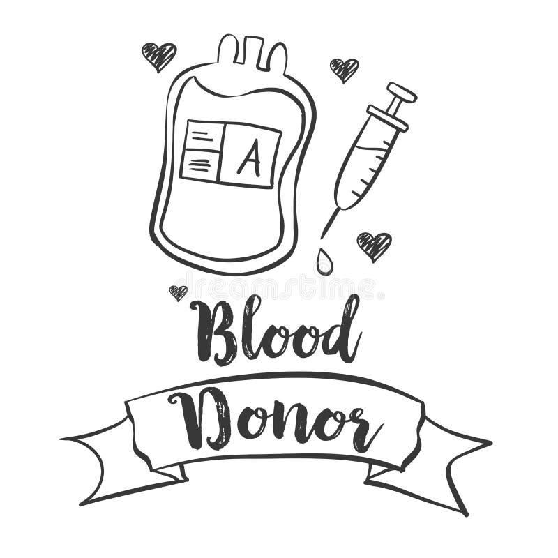 Estilo común del gráfico del día del donante de sangre de la colección libre illustration