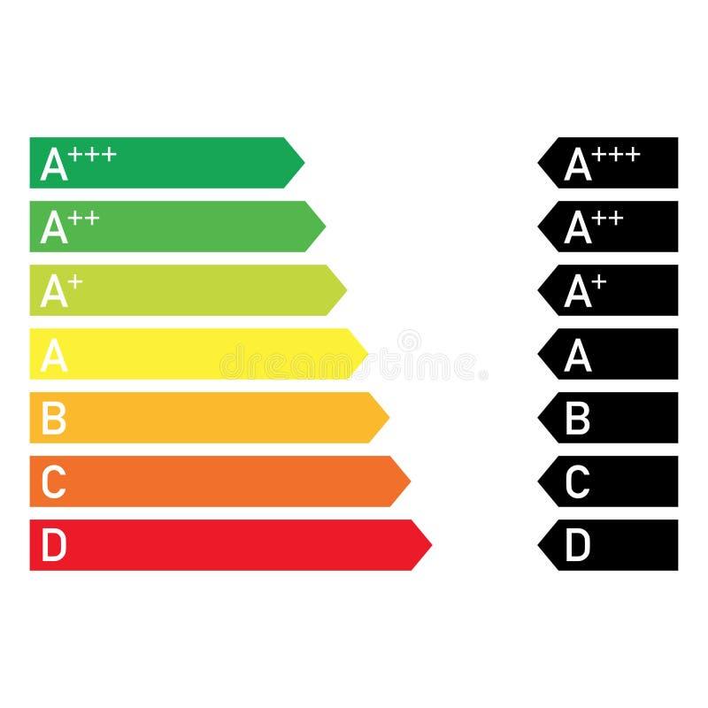 estilo comum colorido do diagrama de poupança de energia da eficiência ilustração stock