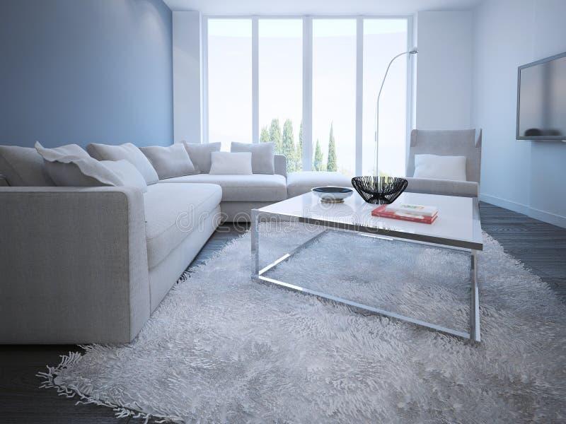 Estilo contemporáneo de la sala de estar stock de ilustración