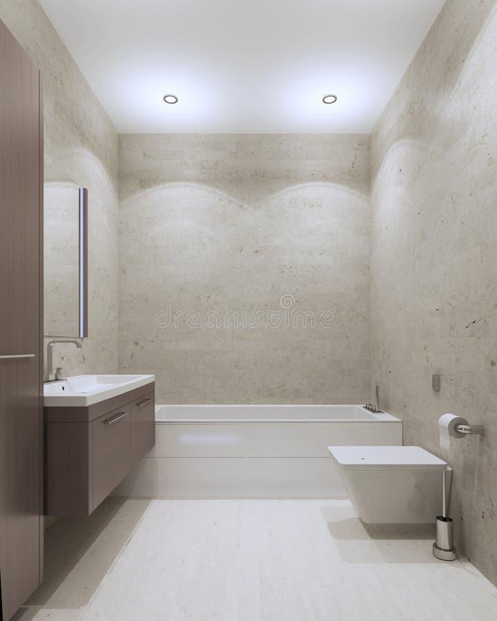 Estilo contemporáneo del cuarto de baño ilustración del vector