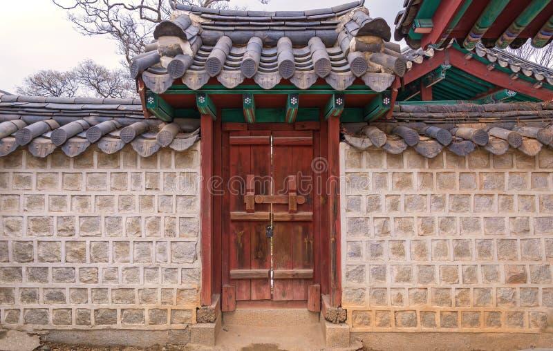 estilo coreano de la puerta de la tradición en Corea del Sur fotografía de archivo libre de regalías