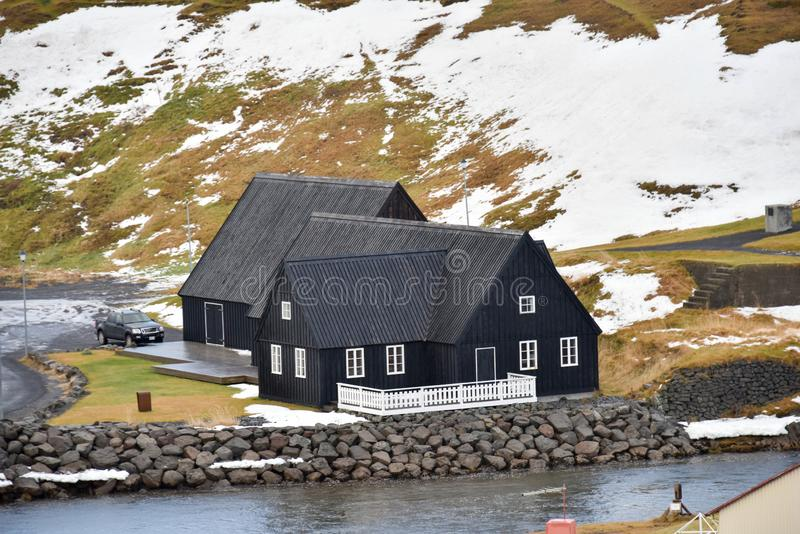 Estilo da casa em Islândia imagem de stock