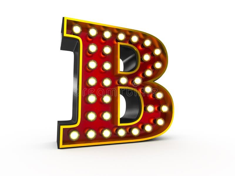 Estilo da letra B 3D Broadway ilustração stock