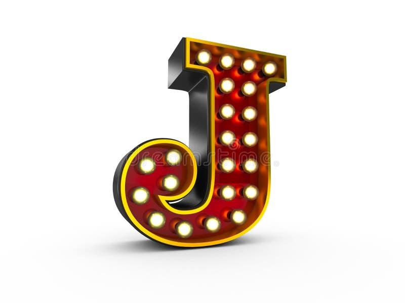 Estilo da letra J 3D Broadway ilustração royalty free