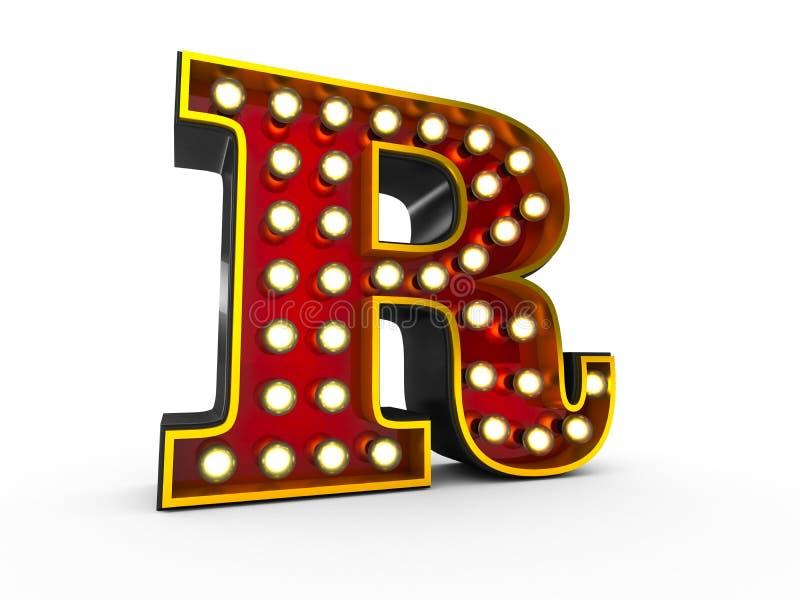 Estilo da letra P 3D Broadway ilustração stock