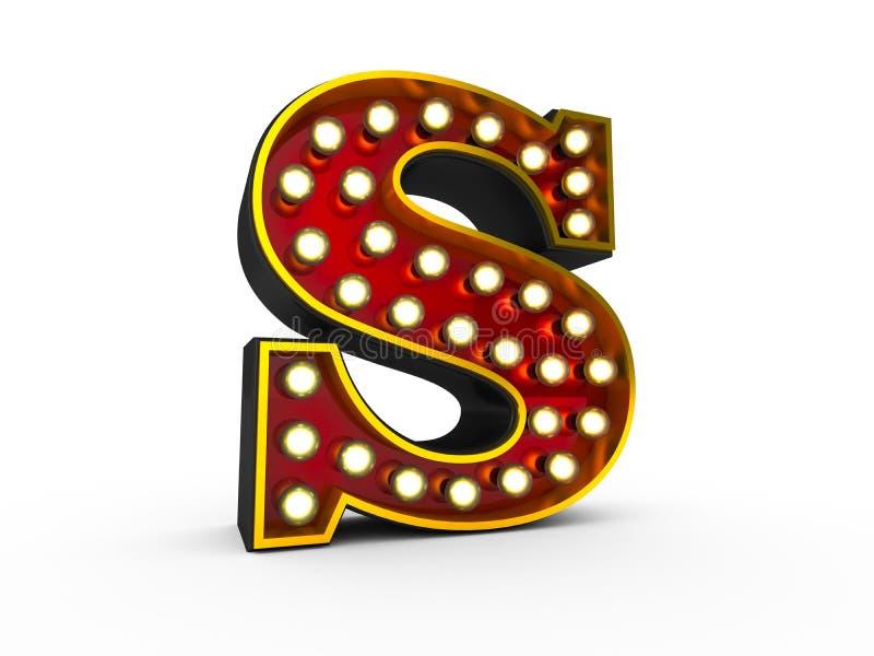 Estilo da letra S 3D Broadway ilustração royalty free