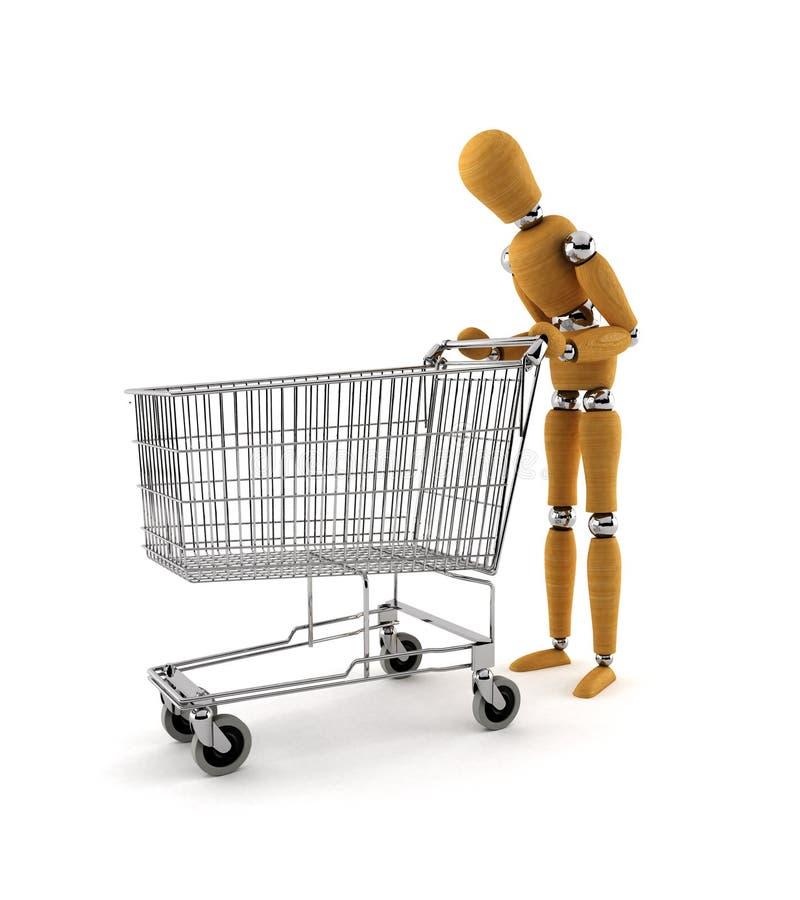 Estilo da retirada da compra imagens de stock
