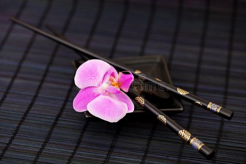 Estilo de Ásia da orquídea imagem de stock