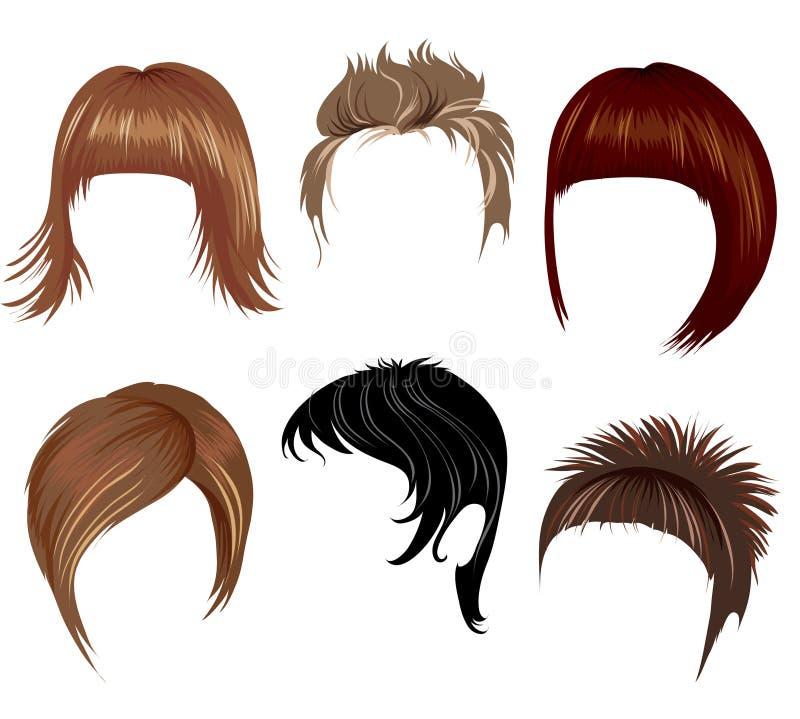 Estilo de cabelo curto ilustração royalty free
