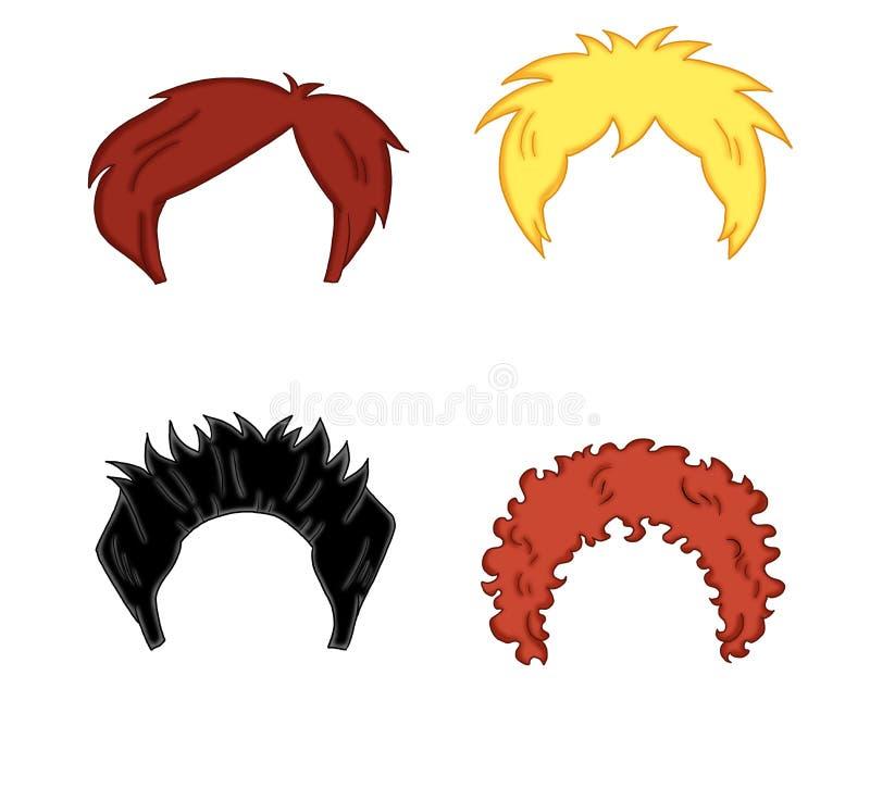Estilo de cabelo para o homem ilustração stock