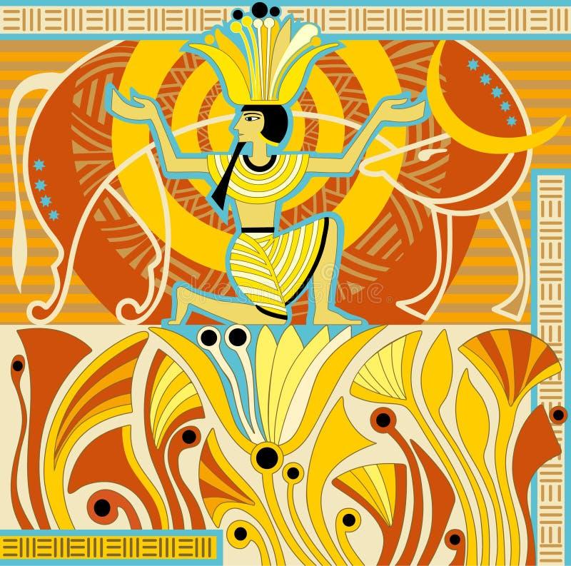 Estilo de Egipto antigo ilustração royalty free