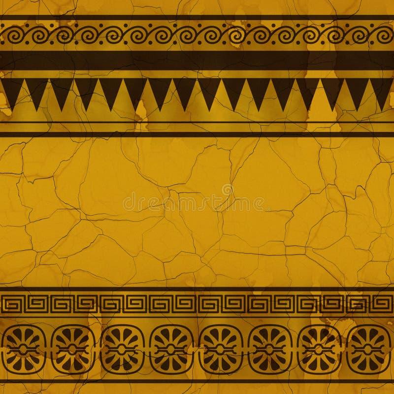 Estilo de Egpty (textura inconsútil) ilustración del vector