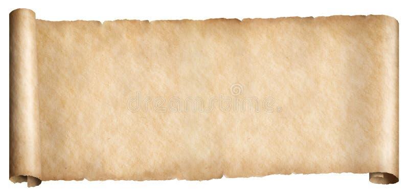 Estilo de fantasia de papel antigo escroto horizontal isolado imagem de stock royalty free