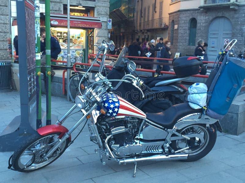 Estilo de Harley Davidson los E.E.U.U. imagenes de archivo