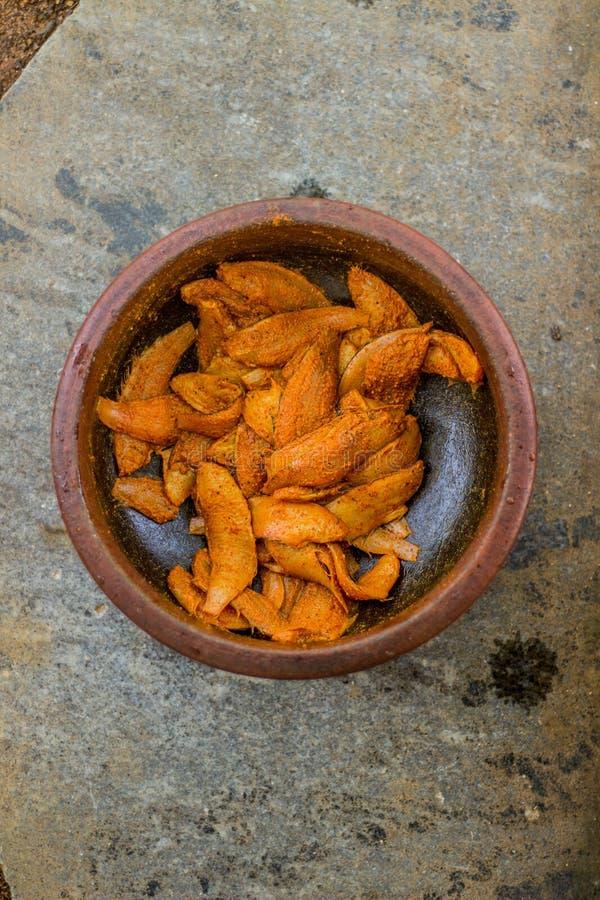 Estilo de kerala do peixe frito - fotografia do alimento fotos de stock